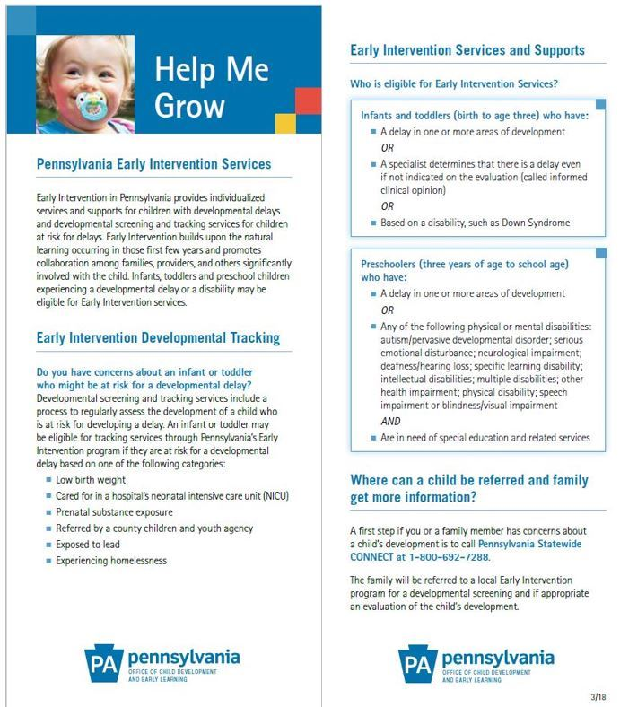 Early Intervention Services Brochure