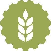 A green badge with the image of the head of a wheat plant, representing agriculture.
