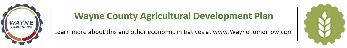 A graphic link to the Wayne Tomorrow page featuring the WT logo and the agriculture graphic.