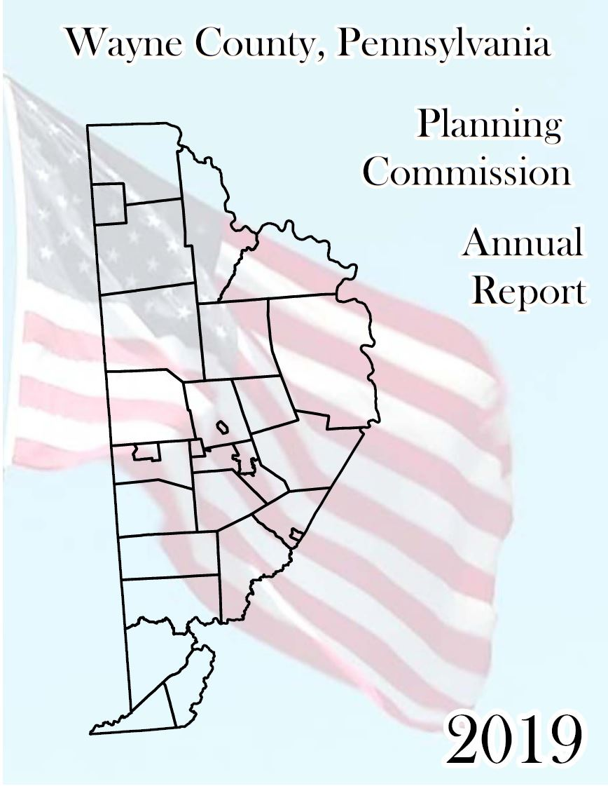 Cover of Planning Commission 2018 Annual Report featuring front facade of the County Courthouse.