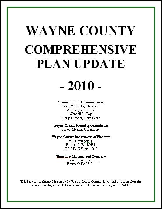 Wayne County Comprehensive Plan Update 2010