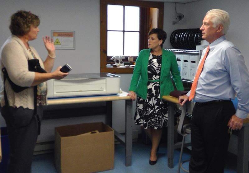 PA DCNR Deputy Secretary for Innovation tours the prototyping lab at the Stourbridge Project.